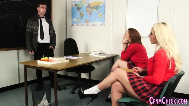 Domina teacher gets cum #7