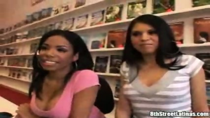 2 hot latinas banged by one guy - scene 5