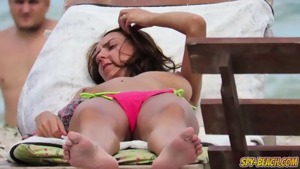 Sexy Bikini Topless Teen Amateur Voyeur Beach Video - scene 5