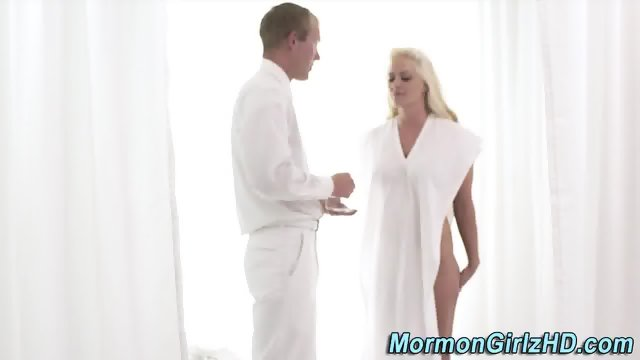 Busty mormon gets pounded