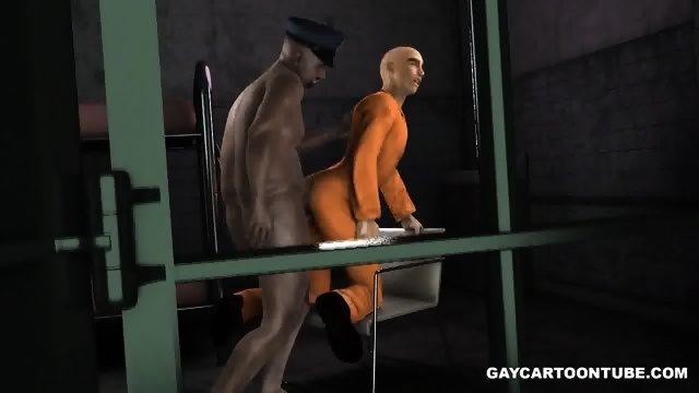 Chubby 3d cartoon cop fucking an ebony hunk039s tight asshole hard 5