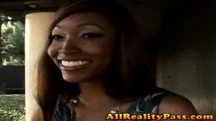 Ebony babe loves sucking and fucking cock gently! - scene 12