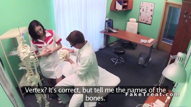 Doctor bangs student in her practice in office