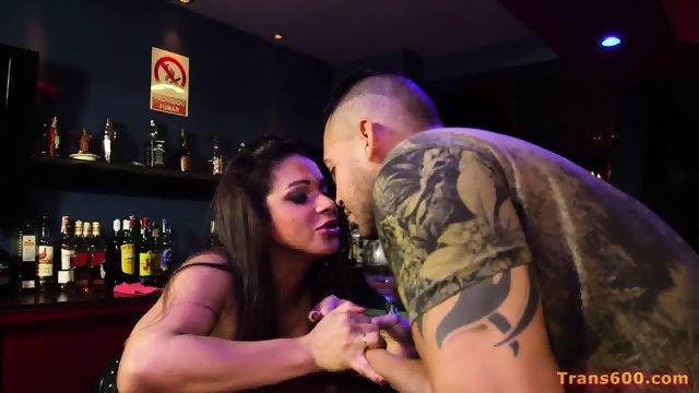 Shemale Barkeeper Rebecca Cavalcante Fucked