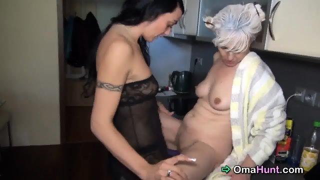 Hard working granny gets reward sex