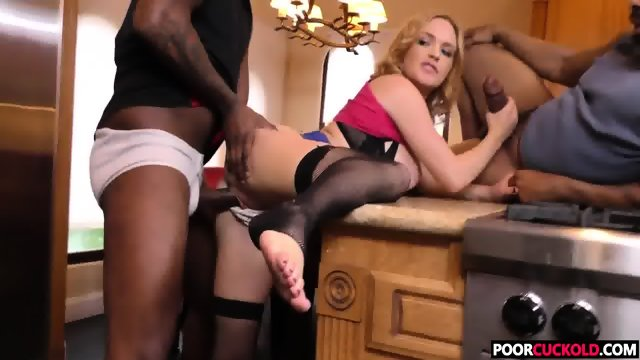 Sexy HotWife Krissy Lynn Gets Fucked By BBCs While Cuckold Watching