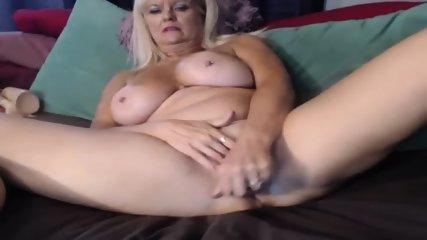 MILF Slut Play Dildo On Webcam - scene 10
