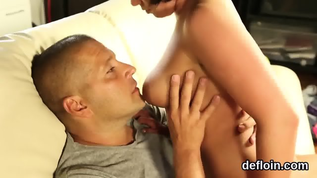 Lovesome kitten gapes narrow snatch and gets deflorated