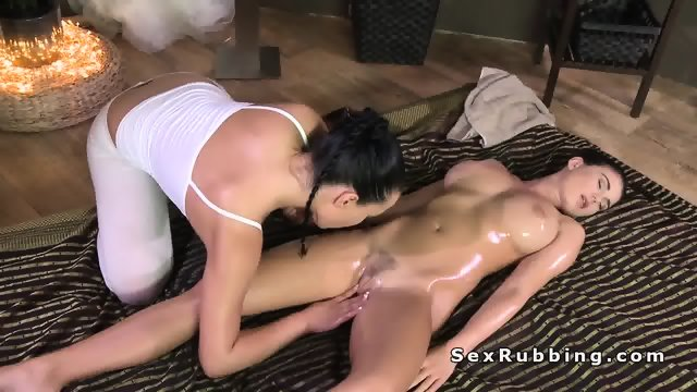 Hot oil massage and fuck