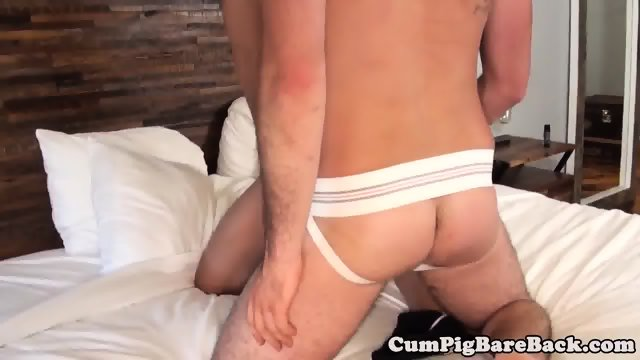 Unsaddled wolf creaming all over lovers ass