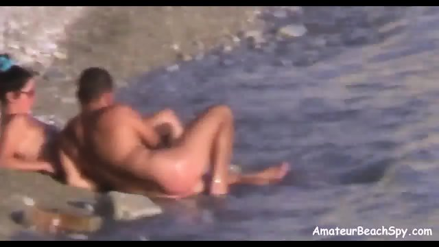Amateur nudist wife public beach handjob