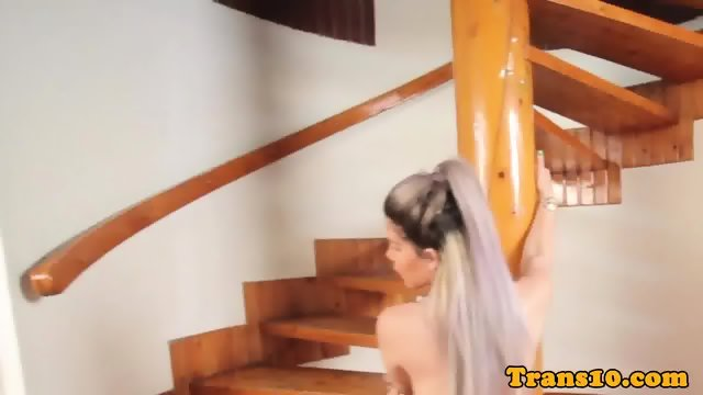 Bigbooty latina tranny showing her big ass