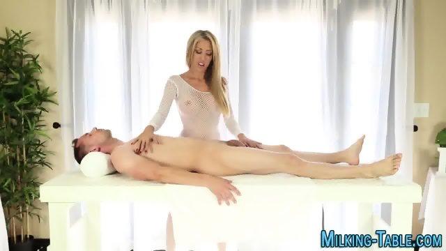Sex therapist guzzles cum
