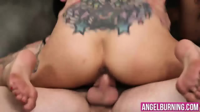 Hot asian Saya Song gets her tight pussy and ass stretched