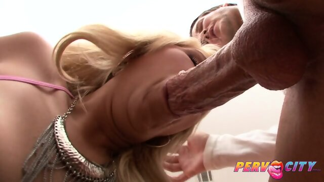 PervCity Blonde Worships A Big Dick