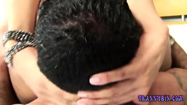 Big Booty Tranny Is Deep Throated