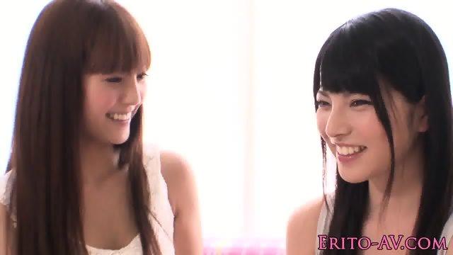 Japanese lesbians scissoring together - scene 4