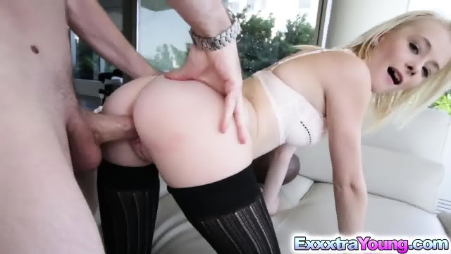 Tiny spinner Maddy Rose destroyed by giant dick