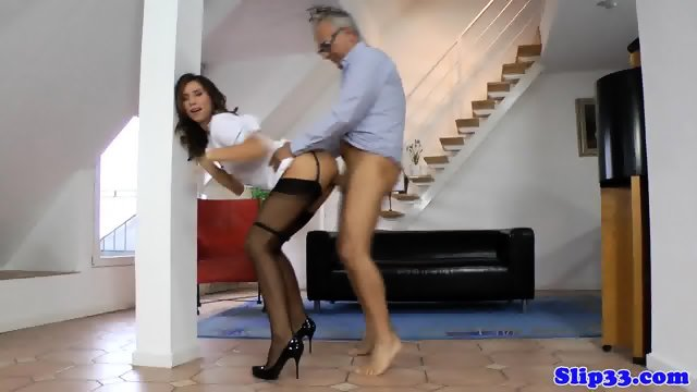 European nurse amateur doggystyled by oldman