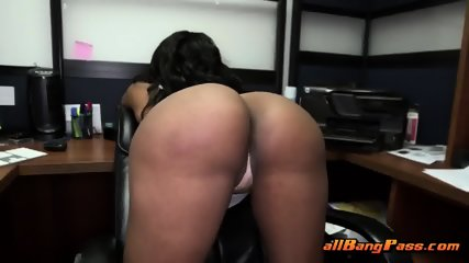 Big booty secretary sucks cock