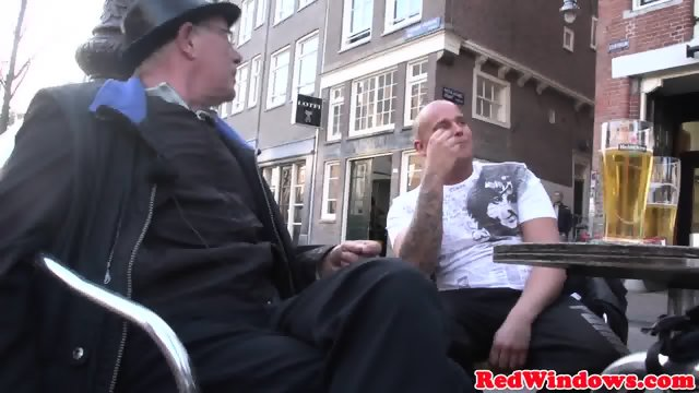 Drilled amsterdam whore jizzed in mouth - scene 3