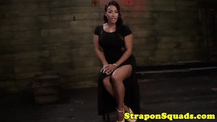 Rough lezdoms straponfuck bigitted ebony sub