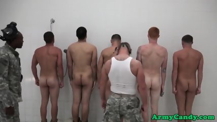 Military muscle hunks analized in shower orgy - scene 5