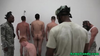 Military muscle hunks analized in shower orgy - scene 6