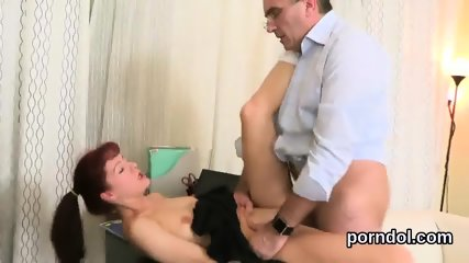 Fervent college girl was seduced and pounded by her aged teacher - scene 6