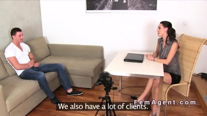 Fit female agent gets doggy style in office - scene 4