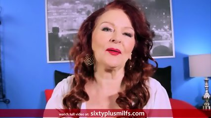Redhead Granny Gives A Good Blowjob - scene 2