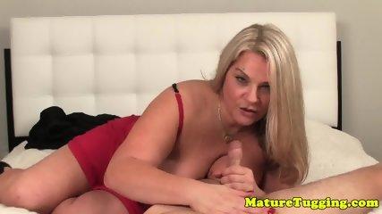 Bigboob granny pov tugging cock - scene 8