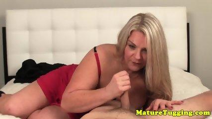 Bigboob granny pov tugging cock - scene 10