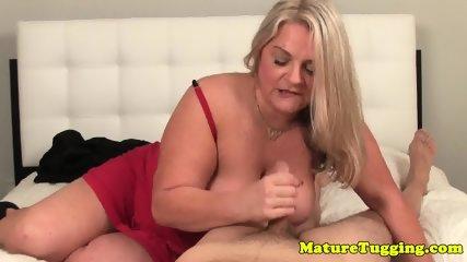 Bigboob granny pov tugging cock - scene 12
