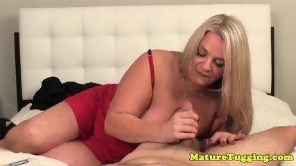Bigboob granny pov tugging cock - scene 1