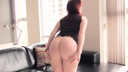 pretty Ellinude secretary strips and plays with her pussy - scene 4