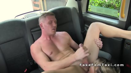 Busty taxi driver rimmed and fucked in her cab - scene 9