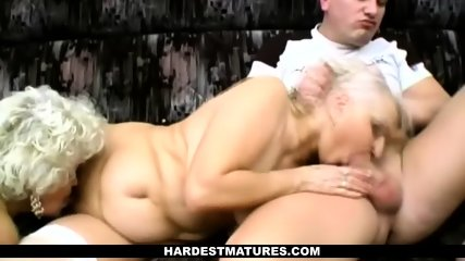 Brian Enjoys Threesome with Two Matures - scene 9