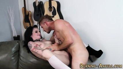 Gothic slut rides cock - scene 10