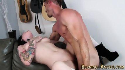 Gothic slut rides cock - scene 11