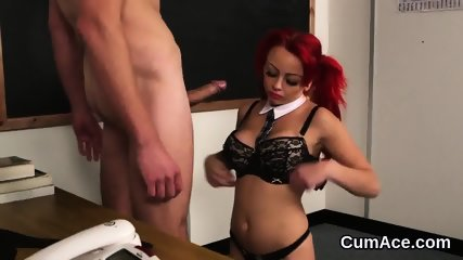 Kinky doll gets cum load on her face swallowing all the love juice - scene 11