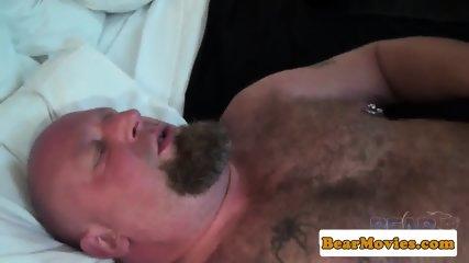 Leather fetish bear banging chubs tight ass - scene 7