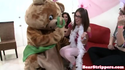 Amateur CFNM party lady rides stripper cock - scene 8
