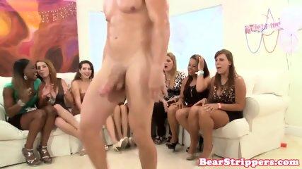 Amateur CFNM party lady rides stripper cock - scene 11