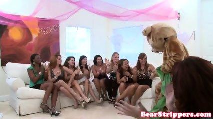 Amateur CFNM party lady rides stripper cock - scene 6