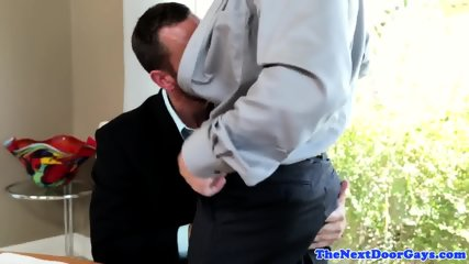 Ripped office dudes in cumshowered session