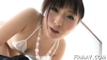 Asian s randy toying and blowjob