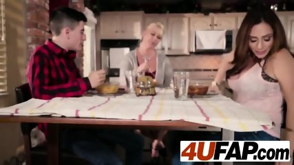 Ariella ferrera under table