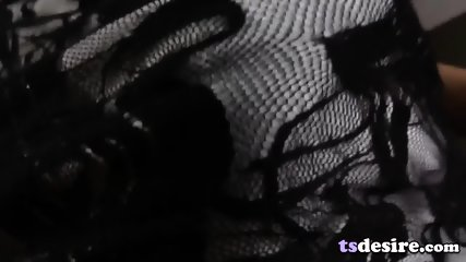 Big Tittied Asian Tgirl Nat Plays With A Dildo