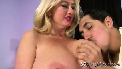 Fat blonde gets all her holes plugged
